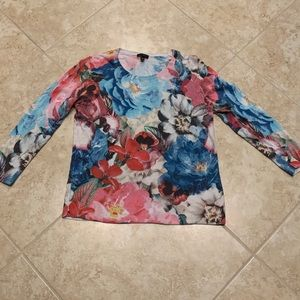 Talbots Flower Sweater